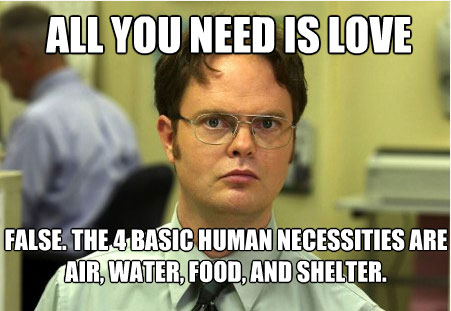 Funny Dwight Schrute Quote All You Need Love Steaks And Chops